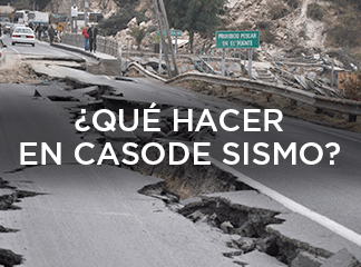 ¿Qué hacer en caso de sismo?