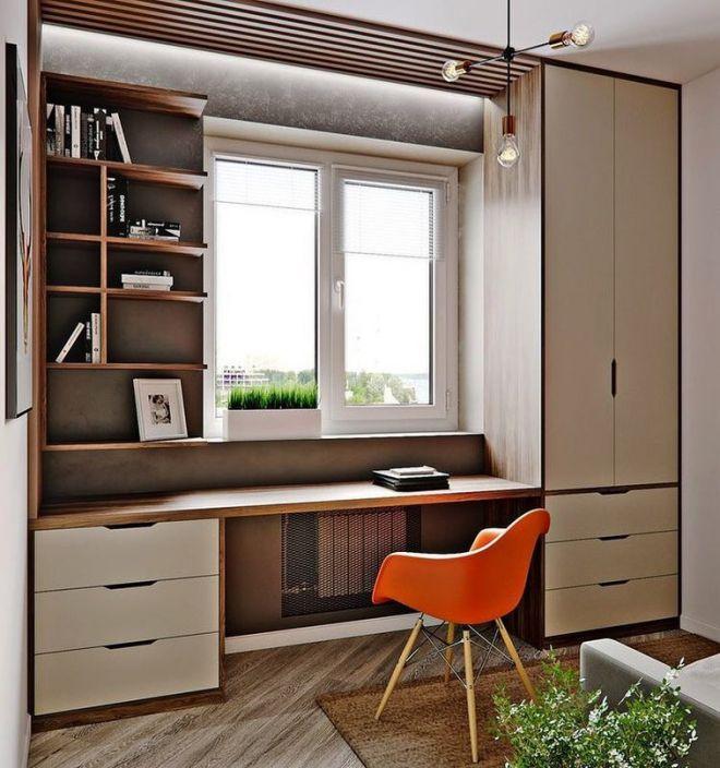 детская комната дизайн стол у окна 3