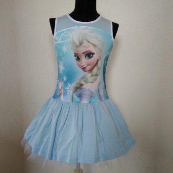 рокля Елза без ръкав синя