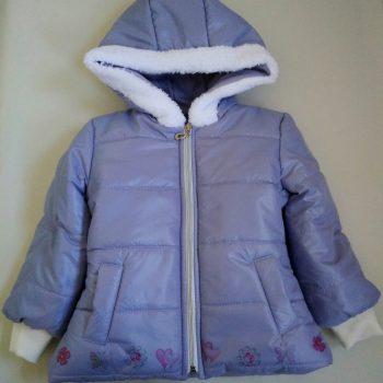 детско зимно яке за момиче в лилаво