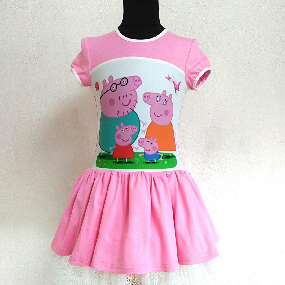 """Детска рокля """"Пепа Пиг"""" с къс ръкав"""