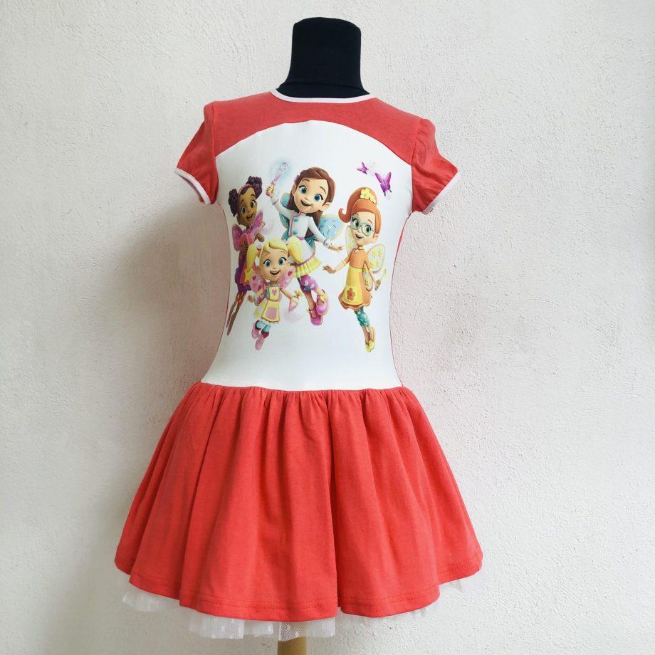 """Детска рокля """"Масленка"""" с къс ръкав"""