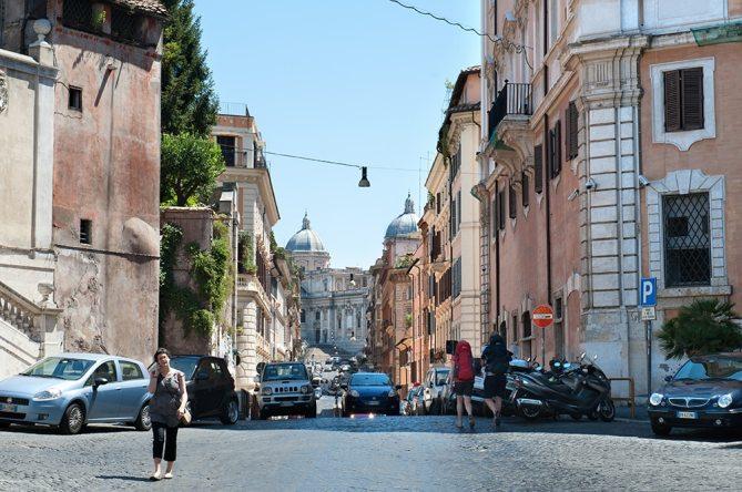 Via Panisperna, Basilica Santa Maria Maggiore, Monti, Roma