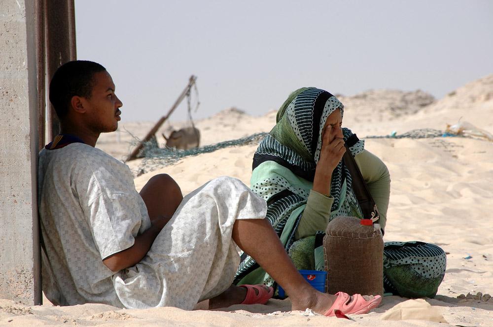 Jernbane i Mauritania, jernbanestasjon i Nouadhibou, tog, Sahara