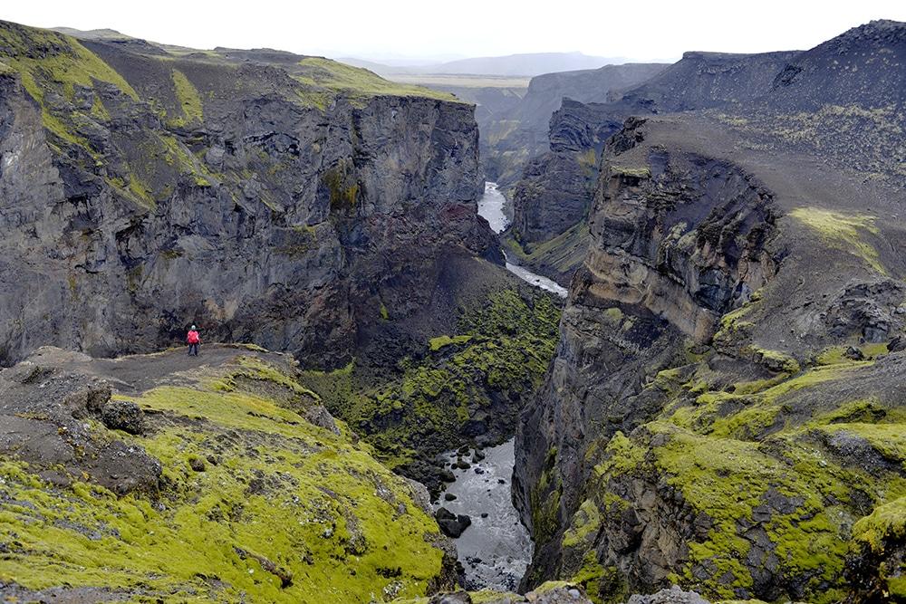 Markarfljótsgljúfur Canyon, Emstrur, Laugavegur, Island, fottur, natur