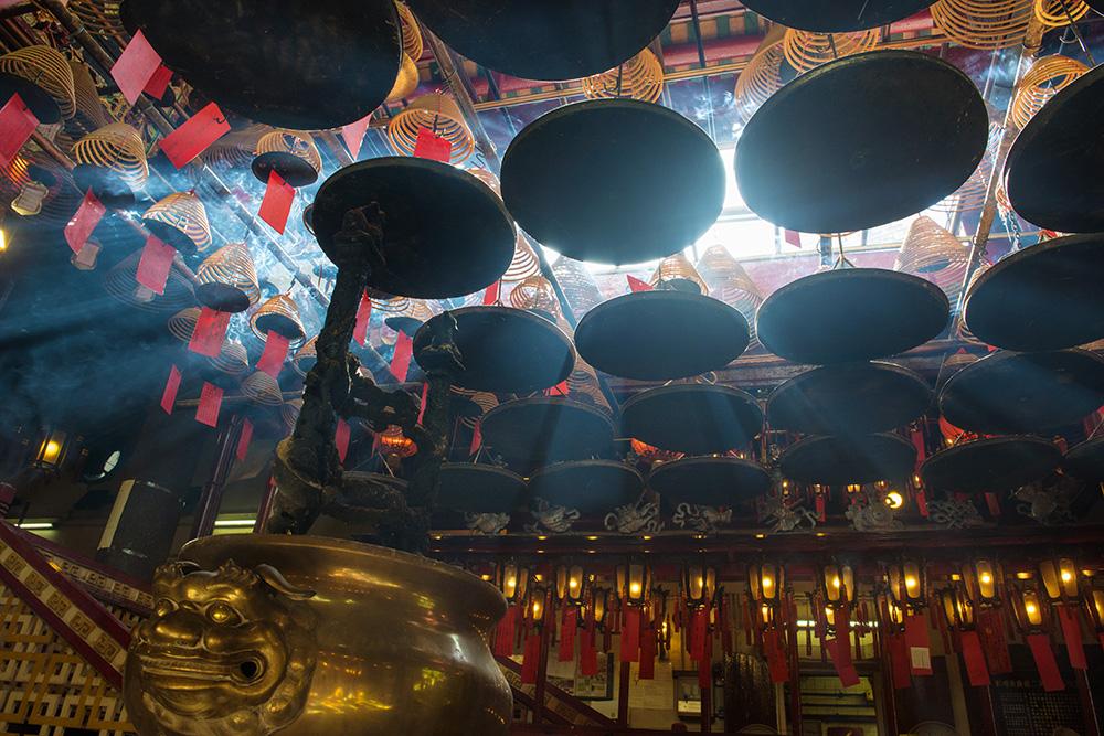 Man Mo Temple, Hong Kong, røkelse, buddhistisk tempel