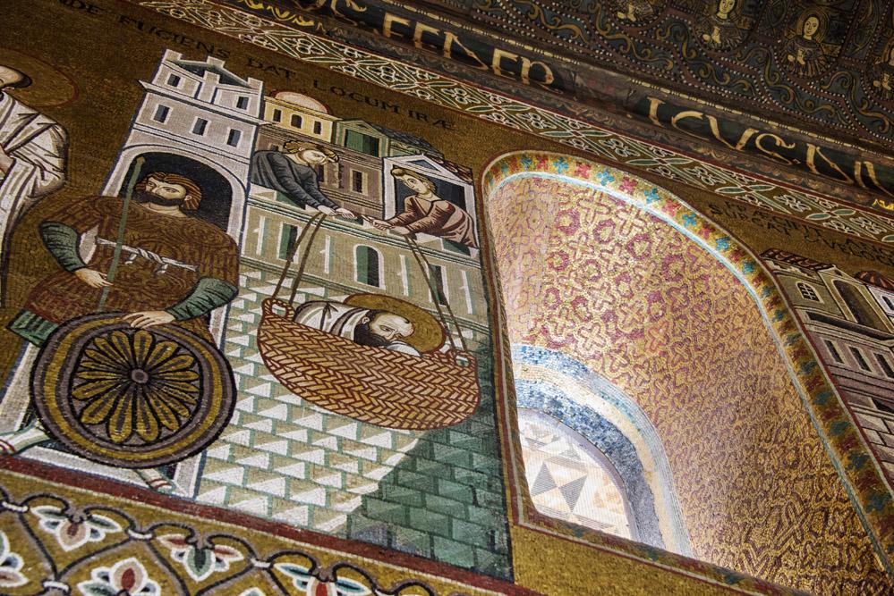 Capella Palatina, Castello dei Normanni, Castello Reale, Palermo, mosaikk i Italia,