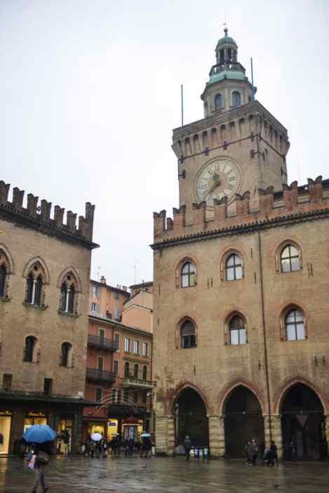 Piazza Maggiore i Bologna i Italia