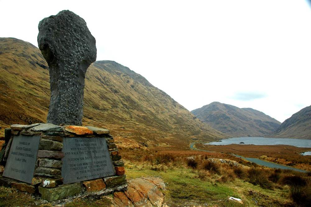 the great famine, hunger walk i Doolough Valley