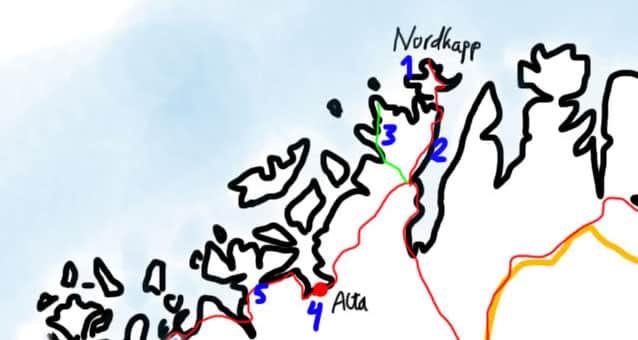kart nordkapp-alta