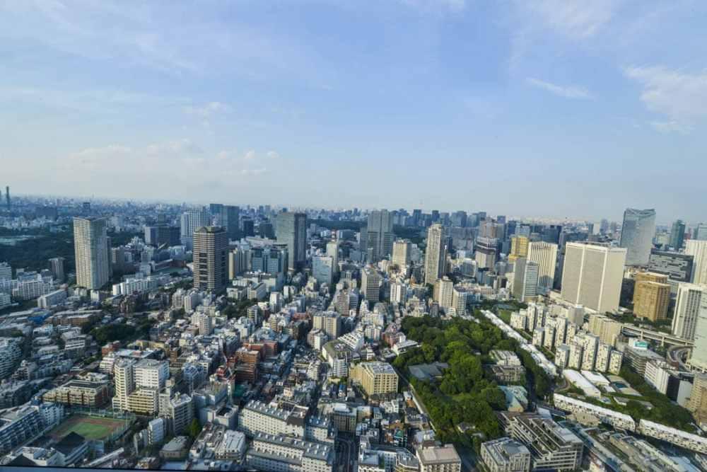 Fra Roppongi ser du mange bydeler i Tokyo