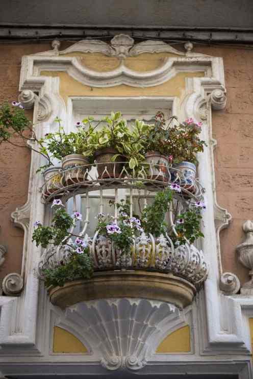 En balkong i gamlebyen