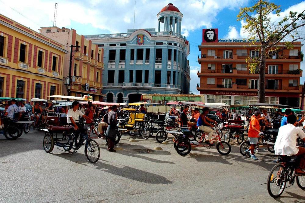 Sykkeldrosjer i Camaguey på Cuba