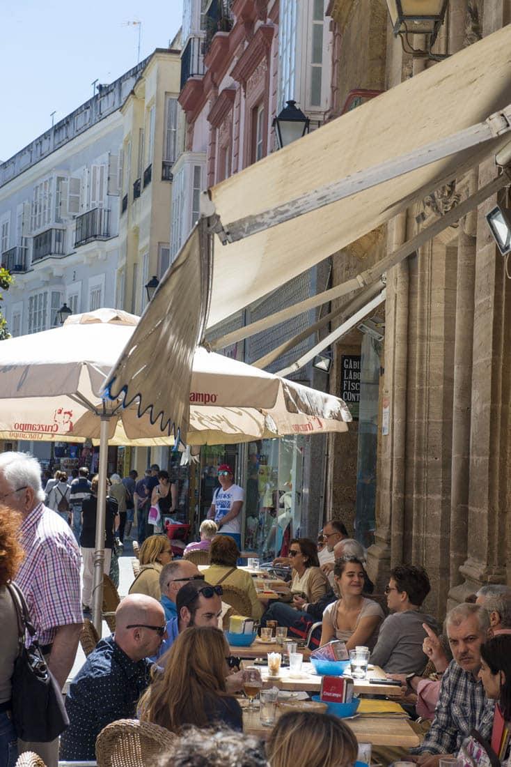 Uterestaurant i Cadiz Spania