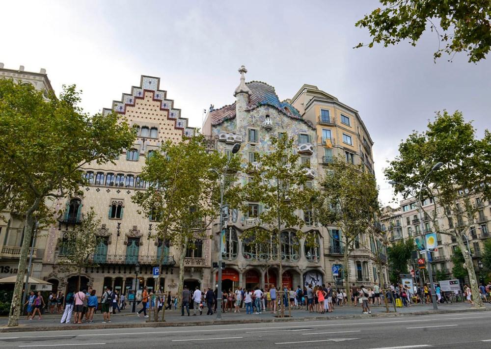 Gaudis hus Casa Batlló og Casa Amatller