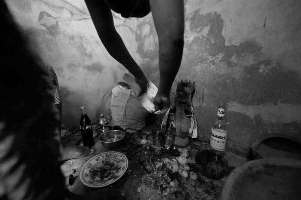 Voodooseremoni i Benin i Vest-Afrika