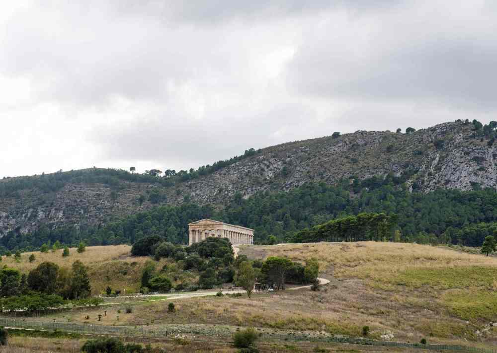 Det greske tempelet Segesta på Sicilia