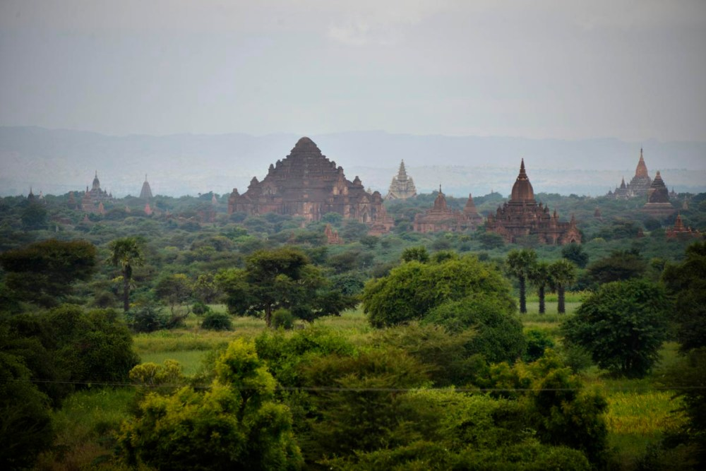 Templer i Bagan i Myanmar