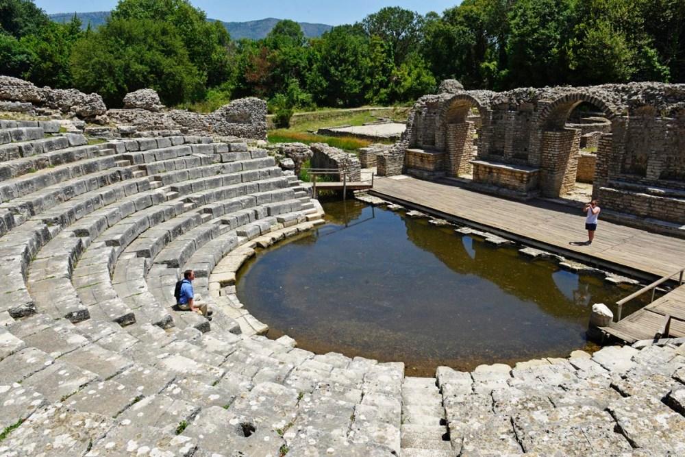Romersk teater i Butrint i Albania