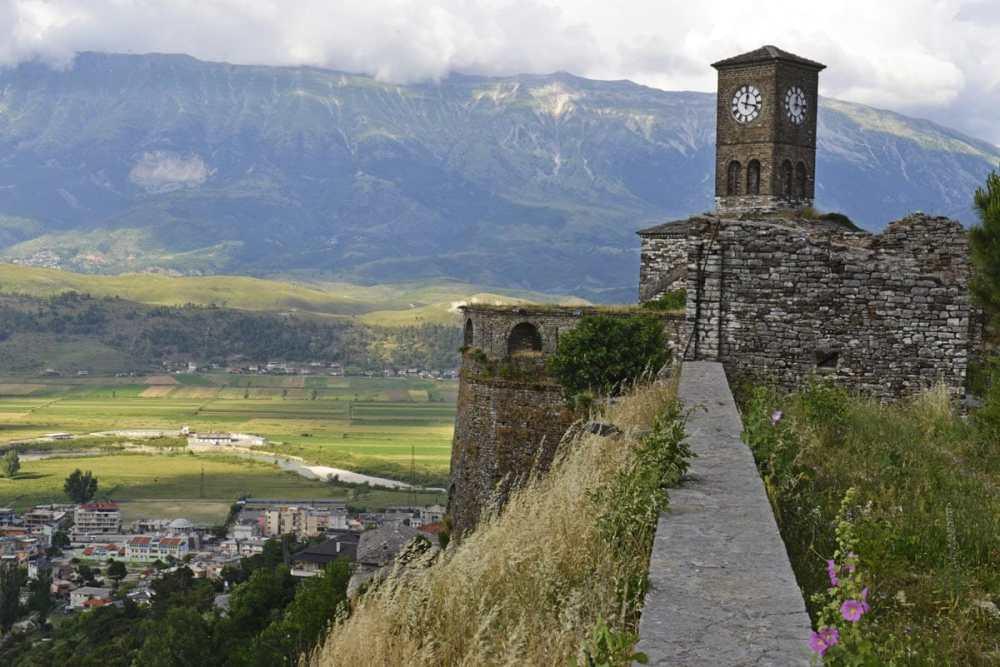 Borgen i Gjirokastra i Albania