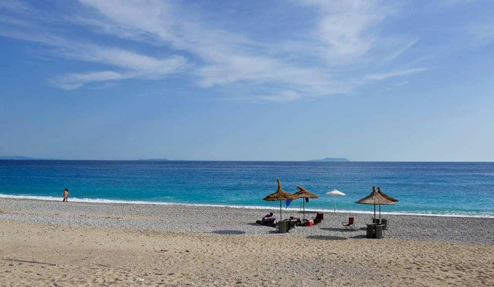 Stranden Dhermi i Albania