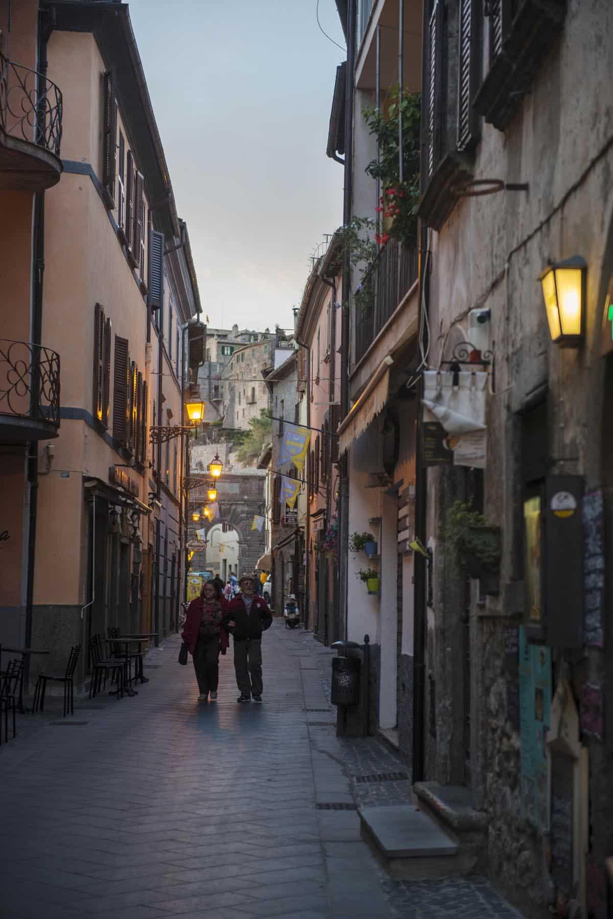 Corso Cavour i Bolsenas gamleby