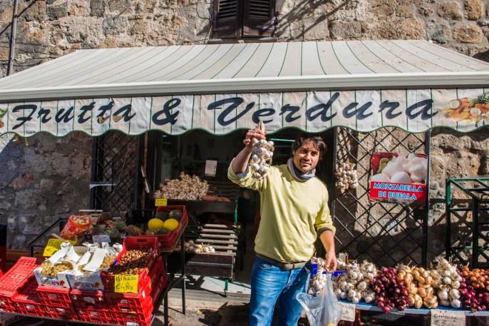 Grønnsakshandler i Bolsena