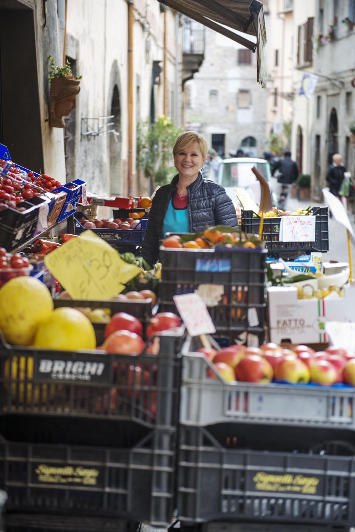 Grønnsakshandler i Italia