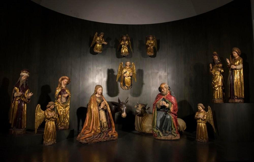 gammel italiensk julekrybbe i Napoli
