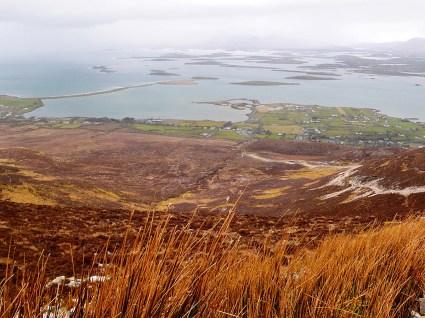 Utsikt fra Croagh Patrick i mars