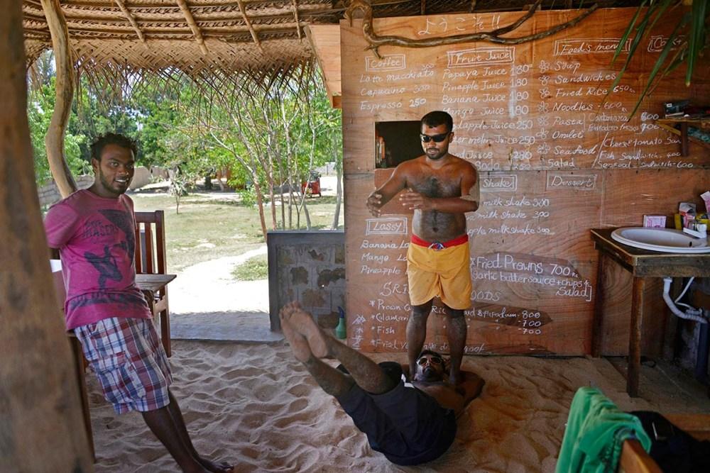 Enkelt backpackersted i Tangalle på Sri Lanka