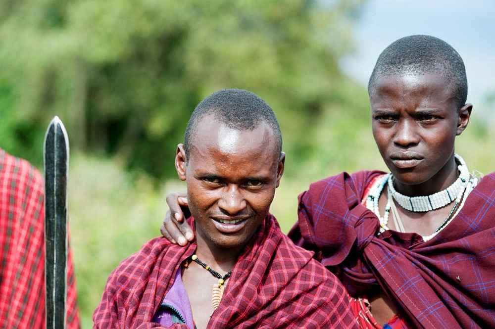 To masaier i Tanzania