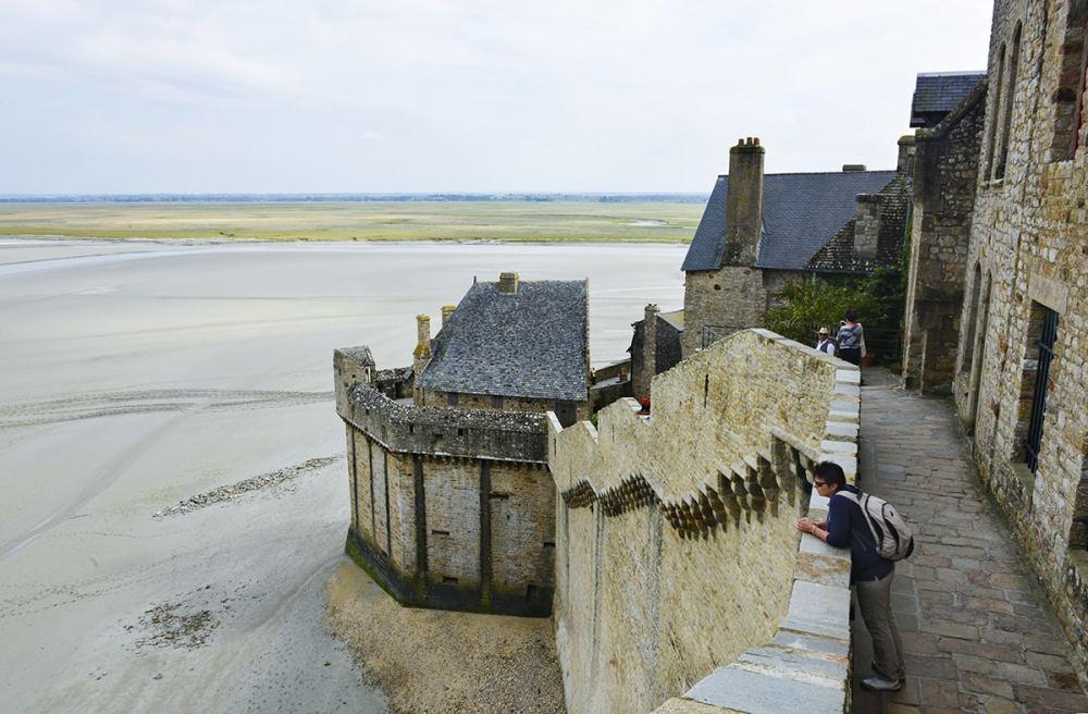 Murene langs Mont-Saint-Michel