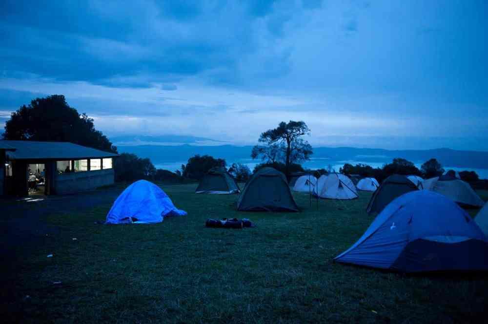 Teltcamp i Ngorongoro i Tanzania