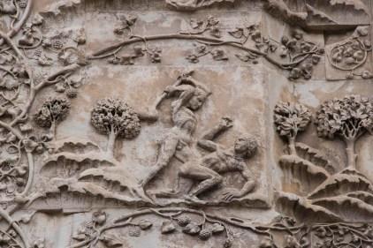 Kain slår ihjel Abel på domkirken i Orvieto