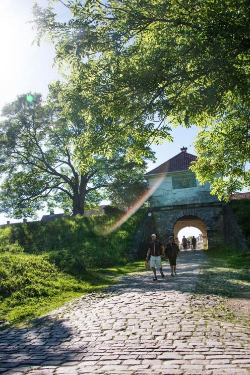 Voldporten og muren rundt Gamlebyen i Fredrikstad