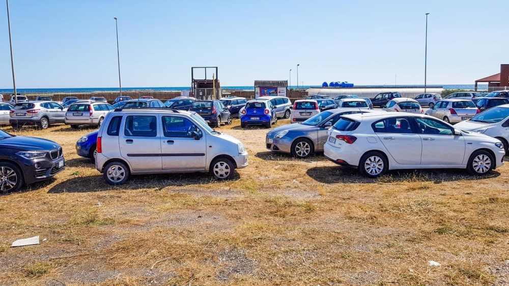 Parkering i Lido di Ostia