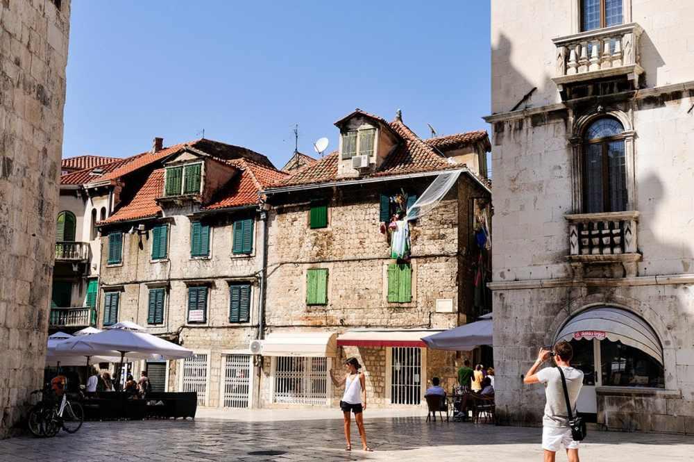 Utkanten av gamlebyen i Split