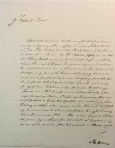 Henrik Ibsens brev til byfogden der han svarer på beskyldningen om at han har en uekte sønn
