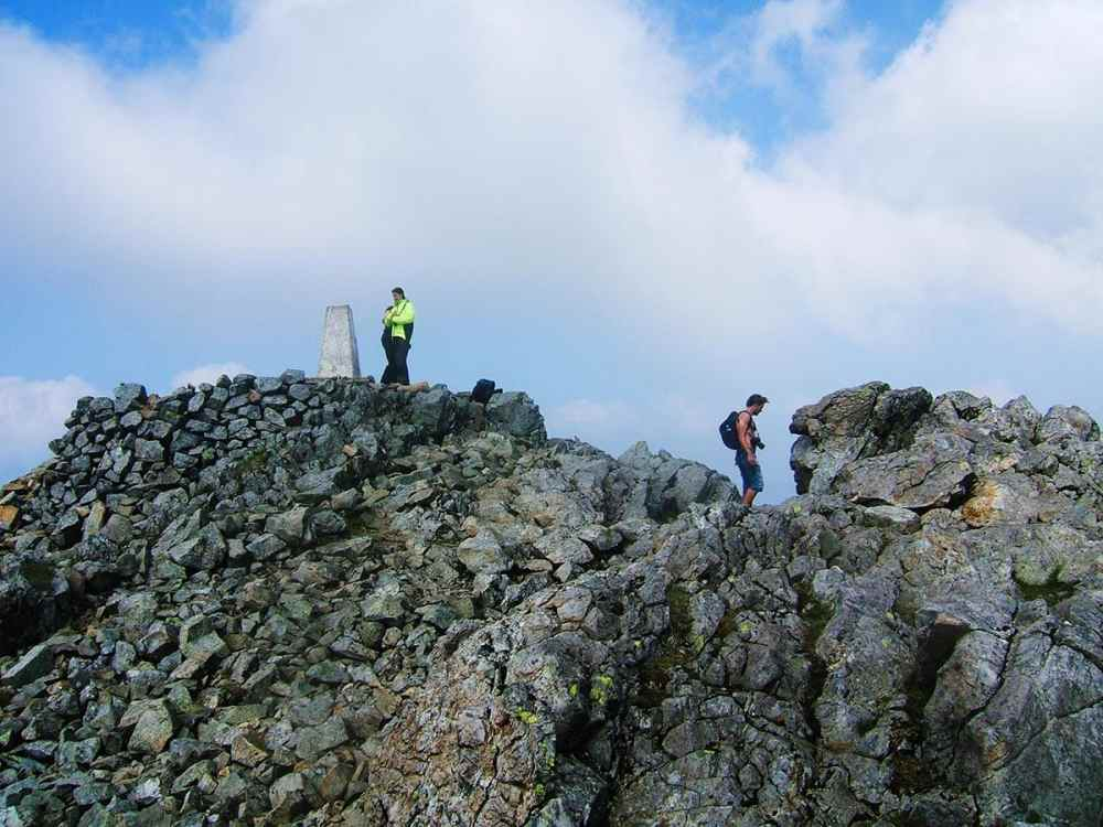 Toppen av fjellet Cadair Idris i Snowdonia