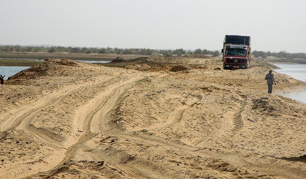 Ferjekai sør for Timbuktu i Mali