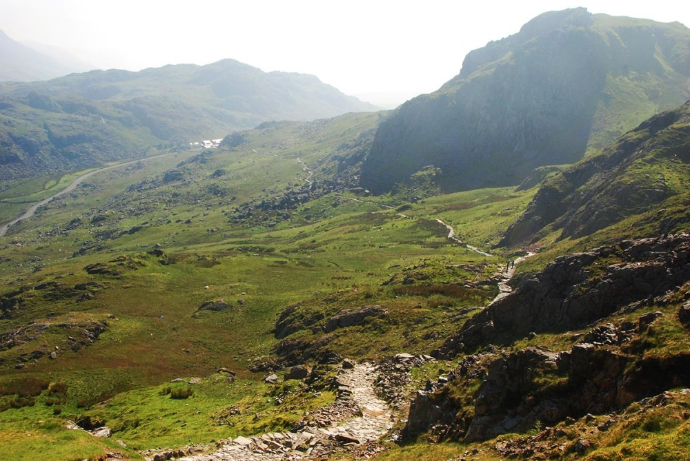Pyg Track opp mot Snowdon i Wales