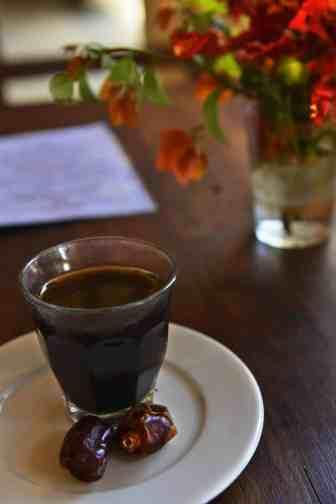 Spise coffee på Lamu