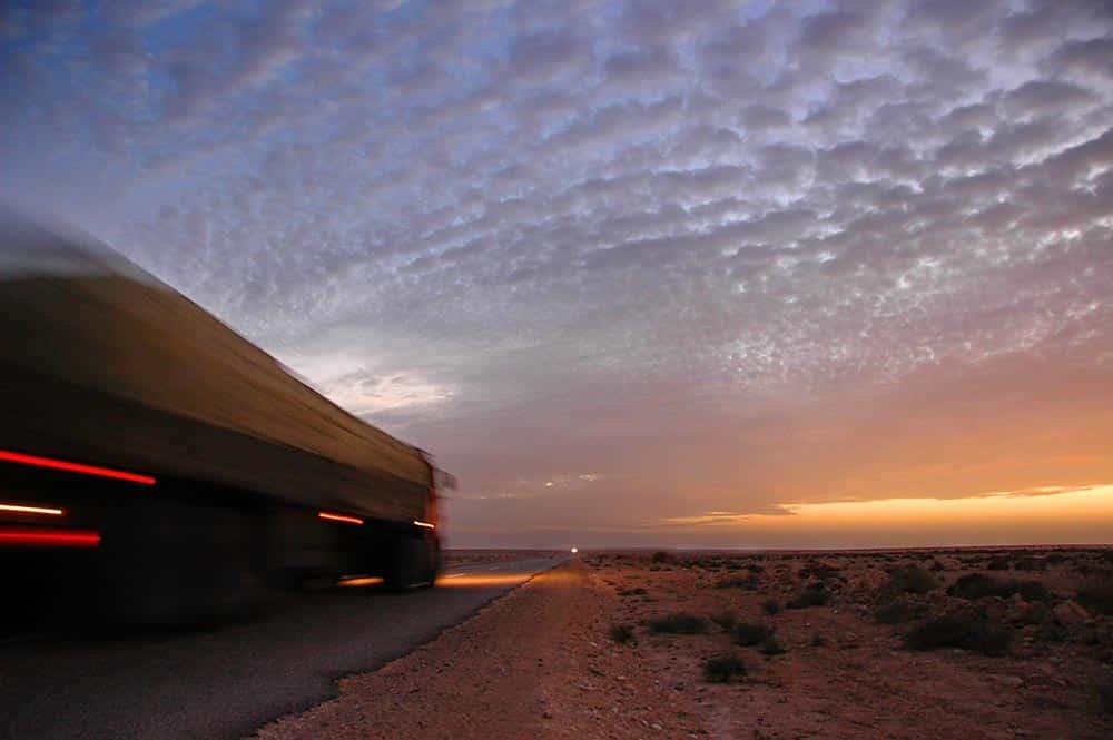 Vei gjennom Vest-Sahara.