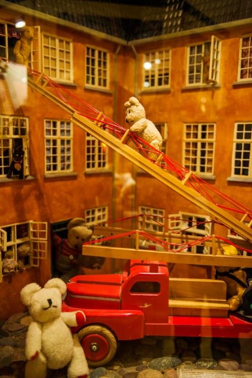 Brannmodell i Skagen bamsemuseum