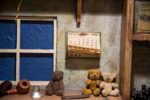Detalj fra Skagen bamsemuseum