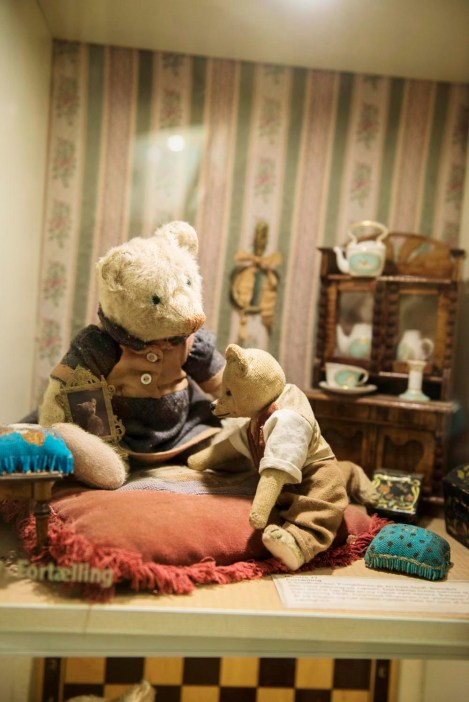 Modell i Skagen bamsemuseum