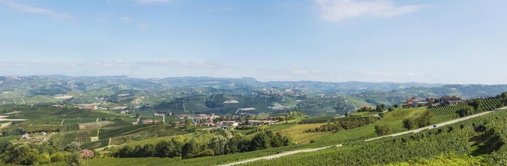 utsikt over Piemonte fra Villa Adina i Barolo