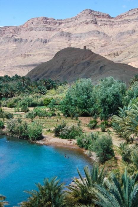 Vann i Draa-dalen i Marokko