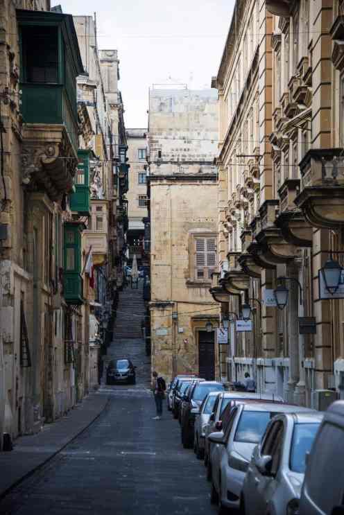 Sidegate i Maltas hovedstad Valletta